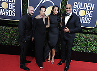 www.acepixs.com<br /> <br /> January 7 2018, LA<br /> <br /> (L-R) Dave Rienzi, producer Dany Garcia, 2018 Golden Globe Ambassador 2018 Golden Globe Ambassador Simone Garcia Johnson, and actor Dwayne Johnso arriving at the 75th Annual Golden Globe Awards at The Beverly Hilton Hotel on January 7, 2018 in Beverly Hills, California.<br /> <br /> By Line: Peter West/ACE Pictures<br /> <br /> <br /> ACE Pictures Inc<br /> Tel: 6467670430<br /> Email: info@acepixs.com<br /> www.acepixs.com