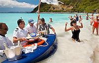 EC-SeaDream I Champagne & Caviar Splash in the Surf & Beach Barbeque, White Bay, Jost van Dyke, BVI