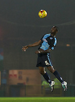 Anthony Stewart of Wycombe Wanderers wins the ball during the Sky Bet League 2 match between Wycombe Wanderers and Notts County at Adams Park, High Wycombe, England on 15 December 2015. Photo by Andy Rowland.