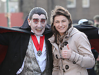 17/03/2011.Parade Grandmaster Katie Taylor & PAddy Dracula.during the St. Patrick's Day festival in Dublin's City Centre..Photo: Gareth Chaney Collins