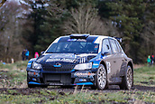 10th February 2019, Galway, Ireland; Galway International Rally; Philip Allen and Stephen McAuley (Skoda Fabia R5) in action