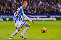 Huddersfield Town's defender Florent Hadergjonaj (33) during the EPL - Premier League match between Huddersfield Town and Crystal Palace at the John Smith's Stadium, Huddersfield, England on 17 March 2018. Photo by Stephen Buckley / PRiME Media Images.