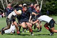 Hurricanes U15 Rugby - Gisborne Boys' High School v Feilding High School<br />  at St. Patrick's College, Silverstream, Upper Hutt, New Zealand on Saturday 7 September 2019. <br /> Photo by Masanori Udagawa. <br /> www.photowellington.photoshelter.com