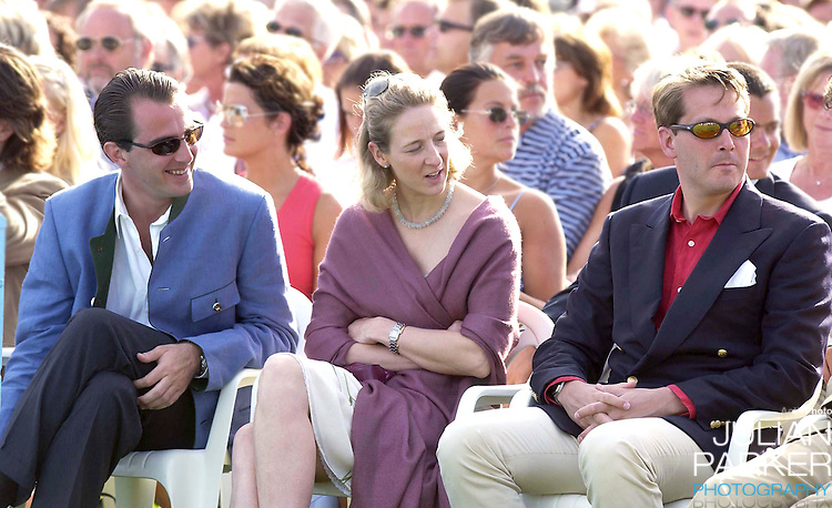 CONCERT IN BERGHOLM TO CELEBRATE CROWN PRINCESS VICTORIA.OF SWEDEN'S 25TH BIRTHDAY.  14/7/02 . PICTURE: UK PRESS  (ref 5105-19).PRINCE NICOLAS OF GREECE AND PRINCESS ALEXANDRA BERLEBURG.