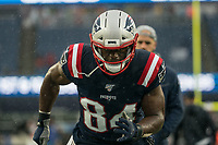 FOXBOROUGH, MA - OCTOBER 27: New England Patriots Tight end Benjamin Watson #84 during a game between Cleveland Browns and New Enlgand Patriots at Gillettes on October 27, 2019 in Foxborough, Massachusetts.