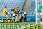 Diarmaid Herlihy, Na Gaeil in action against Paidí McGrath, Rathgarogue-Cushingstown during the AIB GAA Football All-Ireland Junior Club Championship Final match between Na Gaeil and Rathgarogue-Cushinstown at Croke Park on Saturday.