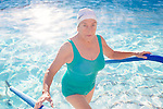 The Aqua Suns are a group of synchronized swimmers in Sun City, Arizona, an age-restricted city of retirees. Barbara Bough emerges from the pool during a break from rehearsing for the upcoming holiday show at the Lakeview Recreation Center Pool December 2, 2013.