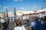 A crossfit competition takes place in Gorky Park on Saturday, August 17, 2013 in Moscow, Russia.