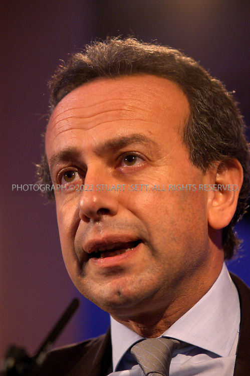 4/12/2003--Paris, France.Michael Zaoui, Managing Director and Head of Mergers and Aquisitions Europe (Morgan Stanley)..The International Herald Tribune's 3rd annual Fashion 2003 (Luxury in a cool climate) conference held at the Four Seasons Hotel in Paris. This year the conference looked at a luxury industry that took a hit in 2003, but seems to be recovering....All photographs ©2003 Stuart Isett/Polaris.All rights reserved.This image may not be reproduced without expressed written permission from Stuart Isett.