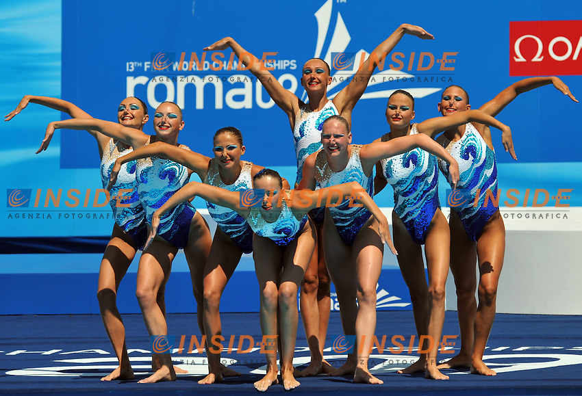 Roma 25th July 2009 - 13th Fina World Championships From 17th to 2nd August 2009....Synchronized swimming - Team free..Russia....photo: Roma2009.com/InsideFoto/SeaSee.com