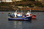 Fishing boats in the harbour of San Juan, Tenerife, Canary Islands.