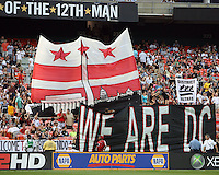 Fans of D.C. United during an MLS match against Seattle Sounders FC at RFK Stadium on July 15 2010, in Washington DC.Seattle won 1-0.
