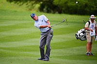 Matt Kuchar (USA) watches his approach shot on 17 during round 1 of the Valero Texas Open, AT&amp;T Oaks Course, TPC San Antonio, San Antonio, Texas, USA. 4/20/2017.<br /> Picture: Golffile | Ken Murray<br /> <br /> <br /> All photo usage must carry mandatory copyright credit (&copy; Golffile | Ken Murray)