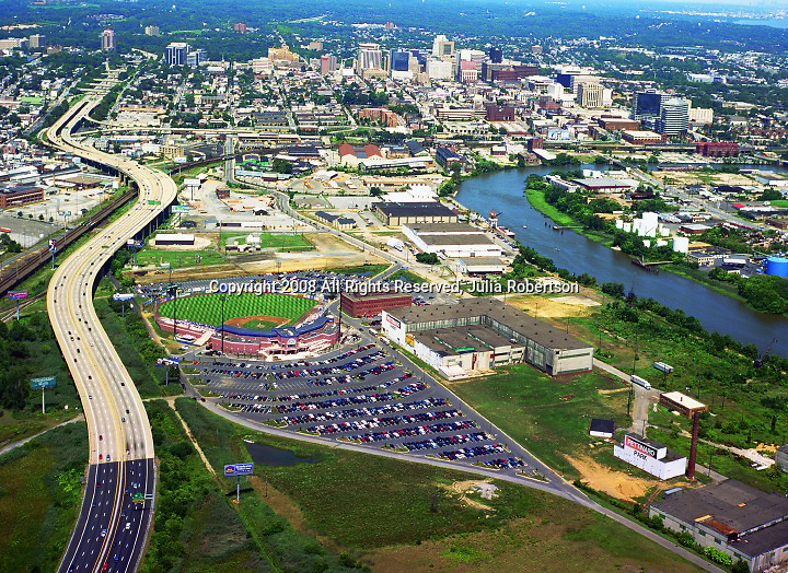 Aerial view of  Wilmington, DE,