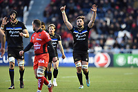 Elliott Stooke of Bath Rugby. European Rugby Champions Cup match, between RC Toulon and Bath Rugby on December 9, 2017 at the Stade Mayol in Toulon, France. Photo by: Patrick Khachfe / Onside Images