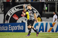 Orlando, FL - Saturday Jan. 21, 2017: Corinthians midfielder Marlone (8) reacts to a successful penalty shot during the penalty kick shootout of the Florida Cup Championship match between São Paulo and Corinthians at Bright House Networks Stadium. The game ended 0-0 in regulation with São Paulo defeating Corinthians 4-3 on penalty kicks.