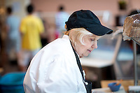 Kathy Lauriha, The Sandwich Lady, July 19, 2013 in the JSC Marketplace. (Photo by Marc Campos, Occidental College Photographer)