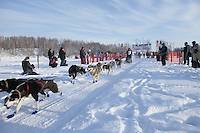 Saturday February 25, 2012   at Knik Lake during the Junior Iditarod start.  Jenny Greger