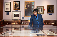 Librarian of Congress Carla Hayden touring the Frank and Virginia Williams Collection of Lincolniana.<br />  (photo by Beth Wynn / &copy; Mississippi State University)