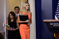 White House Press Secretary Kayleigh McEnany arrives at a press briefing at the White House in Washington on June 29, 2020. <br /> Credit: Yuri Gripas / Pool via CNP /MediaPunch