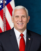 Official portrait of United States Vice President Mike Pence released by the White House in Washington, DC on Tuesday, October 31, 2017.<br /> Credit: US Government Publishing Office via CNP