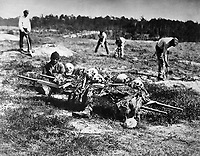 A Burial Party on the Battle-Field of Cold Harbor.  Virginia, April 1865. John Reekie. (War Dept.)<br /> Exact Date Shot Unknown<br /> NARA FILE #: 165-SB-94<br /> WAR & CONFLICT BOOK #:  258