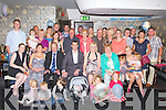 BABY JOY: Proud parents Mike and Breda Fealy (seated centre) of little David who was Christened at St Brendan's Church, Clogher by Fr Pat Crean-Lynch and celebrated afterwards with family and friends at Kirbys Brogue Inn, Tralee on Saturday.