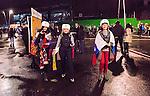 Solna 2014-10-09 Fotboll EM-kval , Sverige - Ryssland :  <br /> Ryska supportrar utanf&ouml;r Friends Arena innan matchen mellan Sverige och Ryssland<br /> (Photo: Kenta J&ouml;nsson) Keywords:  Sweden Sverige Friends Arena EM Kval EM-kval UEFA Euro European 2016 Qualifier Qualifiers Qualifying Group Grupp G Ryssland Russia supporter fans publik supporters