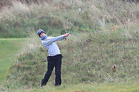 Luka Keyes (Dun Laoghaire) on the 16th fairway during Round 2 of the Ulster Boys Championship at Portrush Golf Club, Portrush, Co. Antrim on the Valley course on Wednesday 31st Oct 2018.<br /> Picture:  Thos Caffrey / www.golffile.ie<br /> <br /> All photo usage must carry mandatory copyright credit (&copy; Golffile | Thos Caffrey)