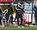 Aberdeen manager Derek McInnes at the final whistle.