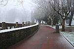 Bilbao visto desde Atxanda nevado