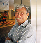 Dith Pran 2001. Photo by Lia Chang