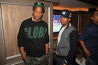 NEW YORK, NY - SEPTEMBER 26:..Jay - Z & Nas attend the NBA 2K13 Premeire at 40/40....© Walik Goshorn / Retna Ltd. /MediaPunch Inc. /NortePhoto