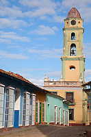 Cuba, Trinidad.  Bell Tower of the Church and Convent of San Francisco, now Home of the Museo de la Lucha contra Bandidos (Museum of the Struggle against Counter-revolutionaries).