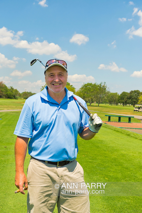 Oceanside, New York, USA. 2nd August 2013. DAVID GROHT, of Valley Stream, is golfing at South Bay Country Club.<br />