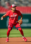 28 April 2017: Washington Nationals third baseman Anthony Rendon warms up in the infield prior to a game against the New York Mets at Nationals Park in Washington, DC. The Mets defeated the Nationals 7-5 to take the first game of their 3-game weekend series. Mandatory Credit: Ed Wolfstein Photo *** RAW (NEF) Image File Available ***
