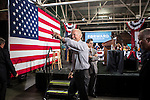 Vice President Joe Biden waves as he leaves after a campaign rally at the Port of Burlington during a two-day campaign swing through Iowa on Monday, September 17, 2012 in Burlington, IA.