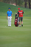 Danny Lee playing his second shot on the second on day one of the Abu Dhabi HSBC Golf Championship 2011, at the Abu Dhabi golf club 20/1/11..Picture Fran Caffrey/www.golffile.ie.