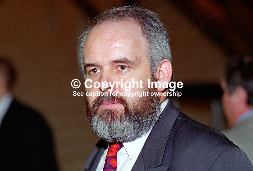 Francie Molloy, prominent member, Provisional Sinn Fein, Coalisland, Co Tyrone, N Ireland, 199509003.<br />