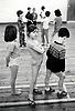 PE lesson, primary school Nottingham UK 1987