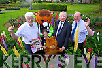 Johnny Wall, Shauna Harris Red Fred, Red Cross mascot, Frank Hayes, Kerry Group and John Griffin, Kerry County Council at the launch of Feile na mBlath.