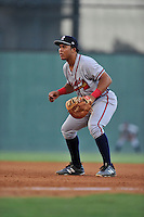 First baseman Carlos Castro (51) of the Rome Braves in a game against the Greenville Drive on Thursday, July 28, 2016, at Fluor Field at the West End in Greenville, South Carolina. Greenville won, 5-4. (Tom Priddy/Four Seam Images)