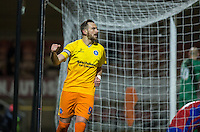 Paul Hayes of Wycombe Wanderers celebrates his goal during the Sky Bet League 2 match between Dagenham and Redbridge and Wycombe Wanderers at the London Borough of Barking and Dagenham Stadium, London, England on 9 February 2016. Photo by Andy Rowland.