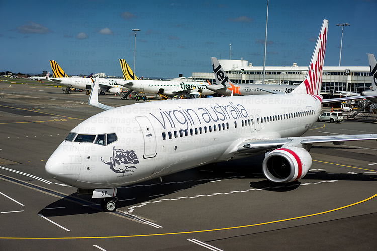 Virgin aeroplane at Sydney airport