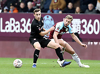 Barnsley's Mike-Steven Bahre vies for possession with Burnley's Charlie Taylor<br /> <br /> Photographer Rich Linley/CameraSport<br /> <br /> Emirates FA Cup Third Round - Burnley v Barnsley - Saturday 5th January 2019 - Turf Moor - Burnley<br />  <br /> World Copyright &copy; 2019 CameraSport. All rights reserved. 43 Linden Ave. Countesthorpe. Leicester. England. LE8 5PG - Tel: +44 (0) 116 277 4147 - admin@camerasport.com - www.camerasport.com