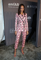 NEW YORK, NY - FEBRUARY 7: Joan Smalls at the 2018 amfAR Gala New York honoring Lee Daniels and Stefano Tonchi at Cipriani Wall Street in New work City on February 7, 2018. <br /> CAP/MPI99<br /> &copy;MPI99/Capital Pictures