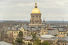 March 9, 2016; Golden Dome, Main Building. (Photo by Barbara Johnston/University of Notre Dame)