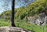 Spalt-Tal Ekkodalen (Echotal) auf der Insel Bornholm, D&auml;nemark, Europa<br /> gap valley Ekkodalen, Isle of Bornholm Denmark