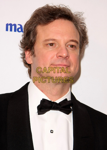 COLIN FIRTH.Relativity Weinstein Company 68th Annual Golden Globe Awards After Party Presented by Marie Claire held at the Beverly Hilton, Beverly Hills, California, USA..January 16th, 2011.headshot portrait bow tie black white .CAP/ADM/TB.©Tommaso Boddi/AdMedia/Capital Pictures.