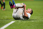 Lucas Vazquez of Real Madrid lies injured on the pitch during their La Liga match between Real Madrid and Real Sociedad at the Santiago Bernabeu Stadium on 29 January 2017 in Madrid, Spain. Photo by Diego Gonzalez Souto / Power Sport Images